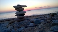 Zen attitude – pebbles – beach